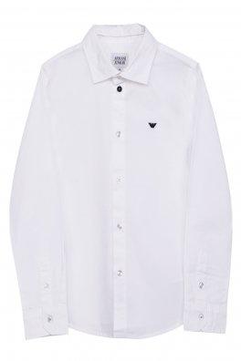 Giorgio Armani 乔治 阿玛尼 白色 棉质 绣花LOGO 男童长袖衬衫 SXC图片