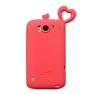 Coomast 酷玛特htcg21手机壳HTCg21手机套SensationXL外壳x315e保护蜜之恋 (玫红)