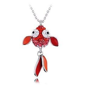 T400 正品 饰品 水晶 项链女 毛衣链 新年节日 红运当头金鱼1243 珠宝首饰