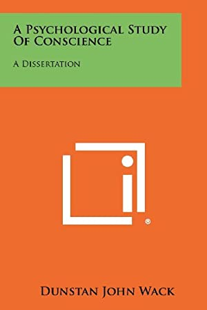 A Psychological Study Conscience A Dissertation 平装