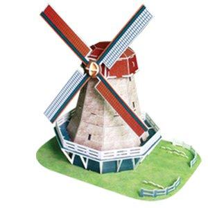 小木板手工风车