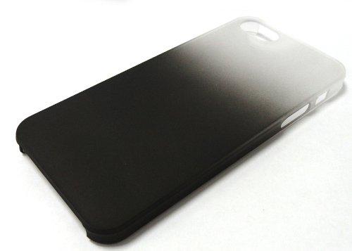喷手机塑料苹果皮革保护壳iphone5工艺保护壳手机5代手机套(透明黑色富全磨砂杯图片