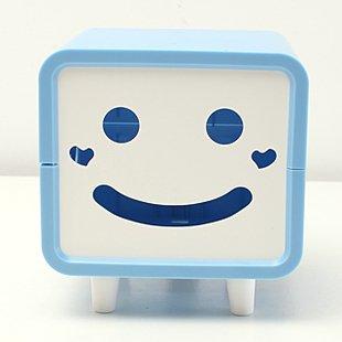 可爱笑脸纸巾盒/创意纸巾抽/长方形卡通卷