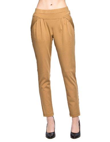 艾格旗下 Etam Weekend 艾格周末 纯色弹力休闲小脚长裤 女式 14022003471