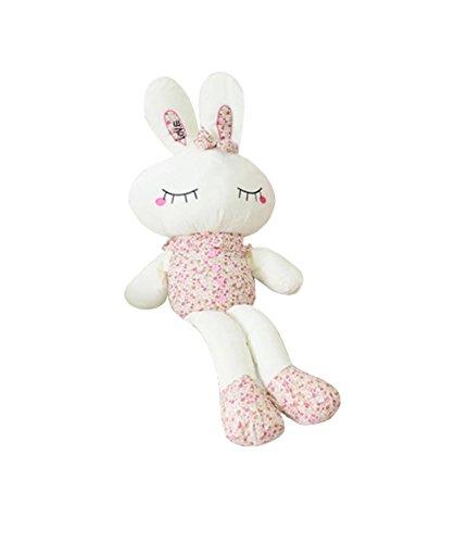 qumeng 趣萌 卡通动物毛绒玩具 碎花兔子公仔爱情兔大白兔抱枕布娃娃