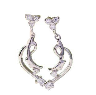 王廷珠宝 925银 月亮岛耳钉-图片