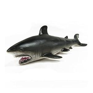 软体环保无毒海洋鲸类动物仿真模型玩具 座头鲸锤头鲨大灰鲸海豚鲨鱼