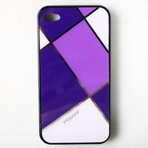 品胜 手机壳 iPhone4/4S 格子保护壳(紫格+黑壳) 手机套 外壳