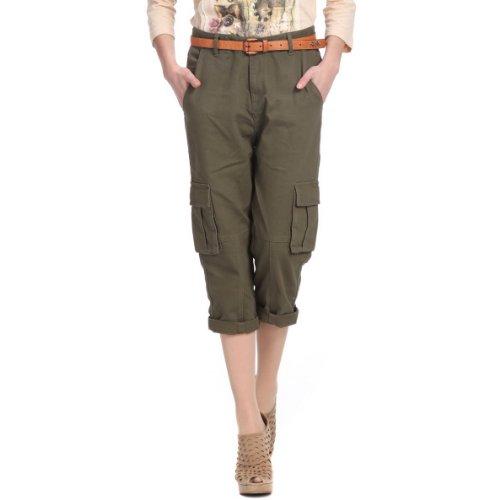 Five Plus 军绿色多袋梭织中裤率性帅气2113060530 女式