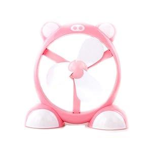 卡通超萌 可爱宠物usb小风扇 办公室风扇 宿舍电扇 (粉色-可爱小猪)