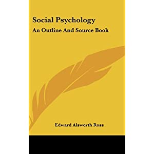 social psychology an outline and source book