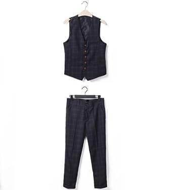英伦风格子韩版修身男士西服套装西服西裤马甲时尚
