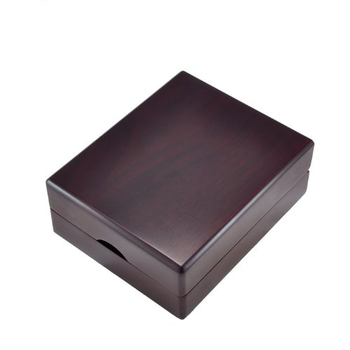 斯巴达 64对装高档木质暗红木色钢琴烤漆袖扣展示盒 不含盒内袖钉