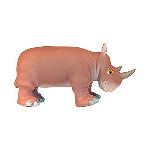 poscn 软胶卡通野生森林动物模型玩具老虎狮子大象河马斑马犀牛 yt