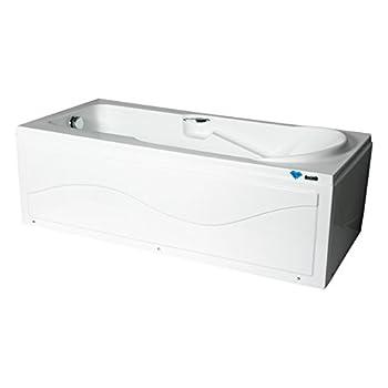 乐谷卫浴 亚克力浴缸 现代欧式 左裙边浴缸 带扶手 lg