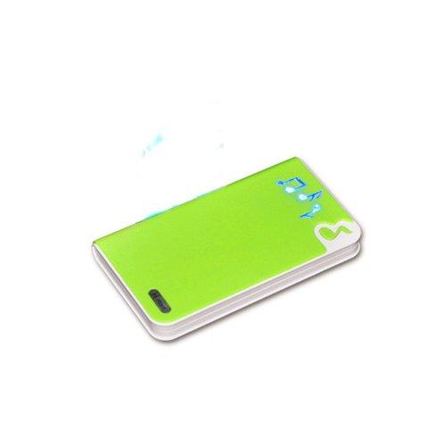 香港QH泉浩10400mAH 多功能 移动电源10400 充电宝 (适用于所有USB接口的IPHONE4 IPHONE4S IPHONE5 IPHONE5C IPHONE5S 三星 HTC 摩拖罗拉 诺基亚 小米 中兴 天语等各种智能手机 及 MP3 MP4 PDA PSP 数码相机 掌上游戏机 蓝牙设备) 10400悦动音符 (绿色)-图片