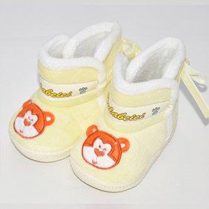 舒适宝宝学步鞋 可爱婴儿鞋子男女 软底防滑婴儿鞋 可爱绑带雪地靴款