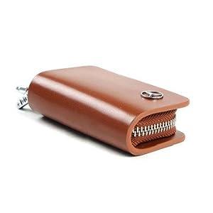 汽车功能内饰真皮钥匙包钥匙套专车专用汽车钥匙扣棕色雪佛