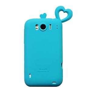 Coomast 酷玛特htcg21手机壳HTCg21手机套SensationXL外壳x315e保护蜜之恋 (浅蓝)