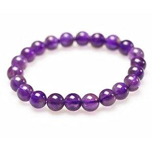 凡碧缇 漂亮高贵 8MM天然紫水晶手链 特价二月生辰石