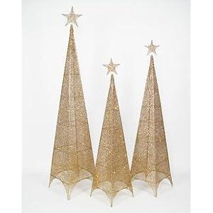 ti 柔蓝若婷 铁艺圣诞树装饰品圣诞四面塔树四面树铁网灯树场景布置