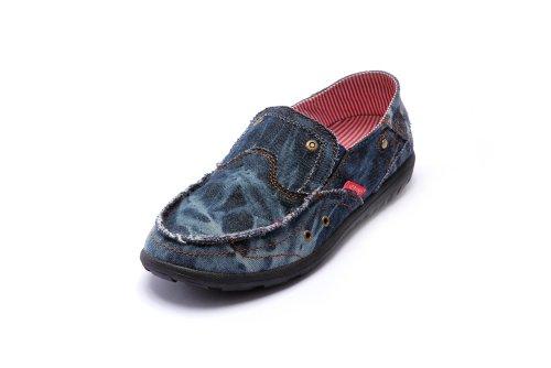 NORVINCY 诺凡希 透气帆布鞋男韩版英伦流行潮流布鞋男懒人鞋子NVC12022 3.28