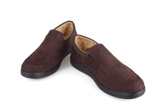 新款可信人老北京布鞋休闲手工锁边松紧口男单鞋商务鞋6107