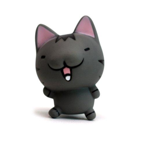 甜蜜城堡 diy手机贴钻公仔可爱卡通吸盘公仔大号 (灰色小圆猫)图片
