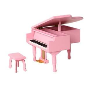 gymax康迈 创意钢琴音乐八音盒 木质三角钢琴八音盒金踏板 音乐八音盒