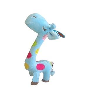 haobei 皓贝 卡通动物 幼儿园教具彩色长颈鹿 毛绒玩具(颜色随机发