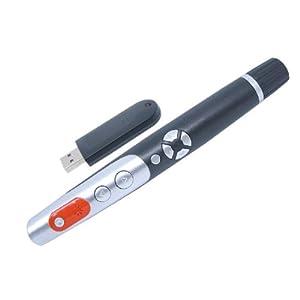 唯昕激光笔vp400 红激光 上下翻页 鼠标 激光笔 遥控笔 翻页笔 PPT遥控笔 内置锂电池 (黑、白双色可选)