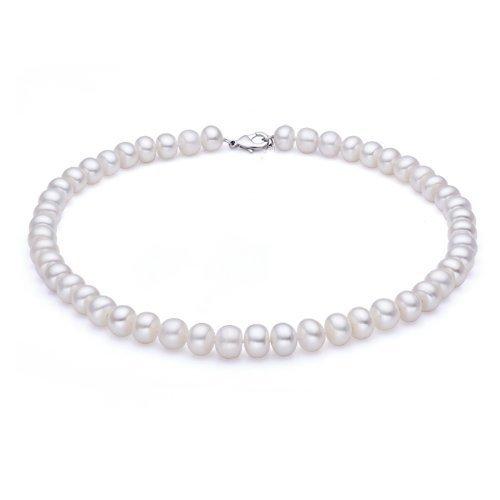 玲饰界 淡水珍珠项链 珍珠传统链 (米白色)-图片