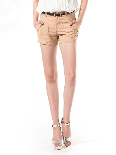 Lily 女式 欧美OL通勤双插袋工装短裤 112220C501