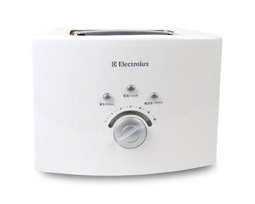Electrolux 伊莱克斯多士炉烤面包机EKTS200(白色食品级塑胶外观、安全隔热外壳,六段电子烘烤程序选择,可移式集屑盘,自动断电保护)