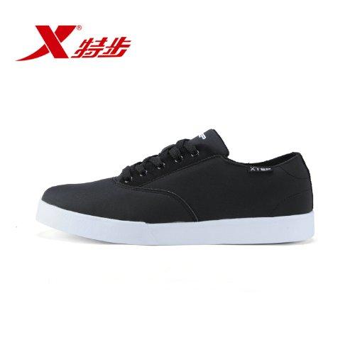 XTEP 特步 男鞋纯色春夏运动鞋轻便耐磨时尚男滑板鞋