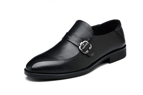 FGN 富贵鸟 2014春季新款 商务正装男士皮鞋 男 真皮 正品休闲男鞋子 T401515 黑色