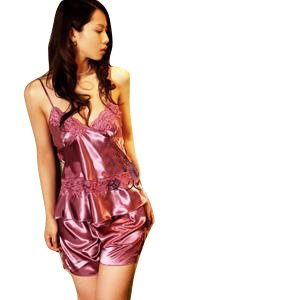 紫色夜火全透明内衣