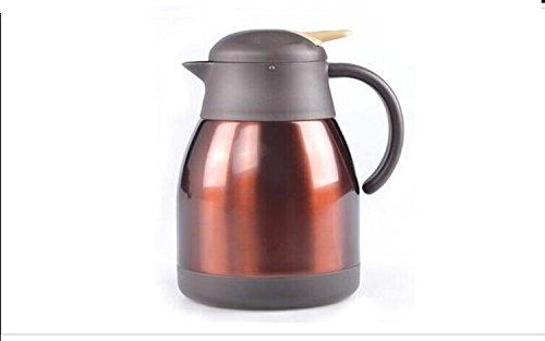 香港QH泉浩 保温壶 保温瓶 保温水壶 暖壶 暖瓶 热水瓶 全不锈钢内胆 家用 暖水壶 焖烧壶暖水瓶 (1200ml, 咖啡色)-图片