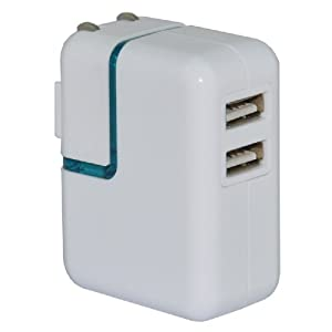 U.love 优乐 UAD07 电源适配器 双USB接口 二合一充电器