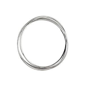 新光饰品  S925银 环环相扣细圈 手镯