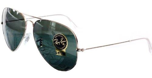 Ray-Ban雷朋 基础功能款太阳镜 RB3025 L0205 58 (金色镜架 灰绿色G15舒适片)-个护健康-亚马逊中国