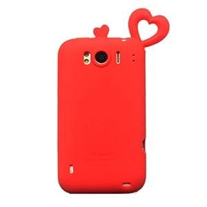 Coomast 酷玛特htcg21手机壳HTCg21手机套SensationXL外壳x315e保护蜜之恋 (红色)
