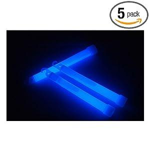 蓝色高亮度6英寸一次性化学荧光棒 户外探险救生棒 演唱会夜光棒 5只装