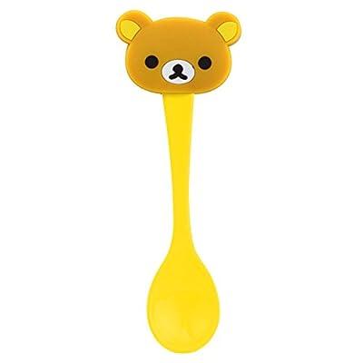 中亲 婴儿勺子卡通公仔头宝宝汤勺动物新生儿童汤匙 环保树脂 轻松熊