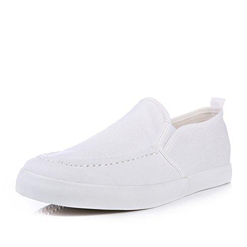 人本 夏款 纯色套脚男士帆布鞋 休闲透气一脚蹬懒人鞋低帮男单鞋