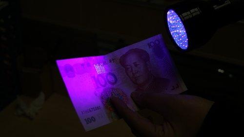 铝合金 荧光灯 紫光验钞 照蝎子手电筒 检验证件,票据如(火车票,飞机