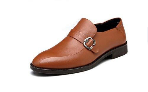 FGN 富贵鸟 2014春季新款 商务正装男士皮鞋 男 真皮 正品休闲男鞋子 T401515 黄棕
