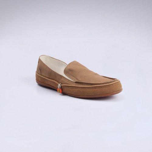 gonna 高乐男士拉链鞋驾驶鞋休闲平底轻便透气鞋经典舒适低帮鞋帆布鞋