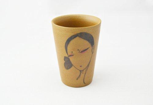 全心全艺 景德镇纯手工手绘插画陶泥水杯马克杯创意情侣套杯直筒水杯