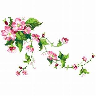 回至dmc 多美绣 客厅大画书房卧室欧式花卉油画野玫瑰 法国 十字绣